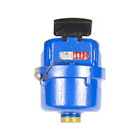 Piston water meters